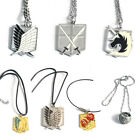 Attack ON Titan 4 Corps Multi Emblems Metal Necklace Anime Gift