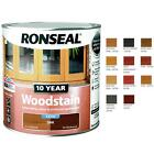 Ronseal 10 Year Woodstain Satin 2.5L Exterior Door Windows Wood Stain Paint