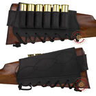Leather Shotgun Shell Cartridge Buttstock Holder Rifle Stock CoverAmmunition Belts & Bandoliers - 177884