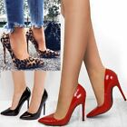Womens Ladies Court Shoes Stilettos High Heels Pointy Party Evening Sandals Size