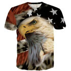 Popular Women Men 3D Print Funny Flag Bird T Shirt Short Sleeve Top Animal Tee