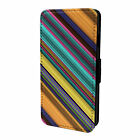 Minimal Stripes Pattern Flip Case Cover For Apple iPod - S8468