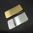 White Gold Slim Money Clip Credit Card Holder Wallet New Stainless Steel
