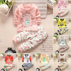 Baby Girl Boy Kids Long Sleeve Round Neck Warm Tops+Pants Autumn Outfits Sets