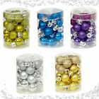 Set 24 Mini 2cm 20mm Christmas Xmas Tree Baubles Bauble Balls Hanging Decoration