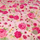 per 1/2 metre/fat quarter English Rose 100% cotton fabric  ORCHID colour