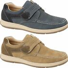 Men's Strap Faux Suede Leather Smart Comfort Flat Loafers Trainers Shoes