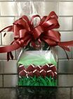 Football Gift Box-Basket Full of Candy Wrapped, Bow And Card
