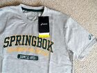 M XL XXL 3XL ASICS SOUTH AFRICA SPRINGBOKS GREY RUGBY T SHIRT JERSEY NEW
