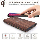 US Potrable 10000mAh Power Bank Backup Battery Pack Charger Qi Wireless Charging