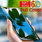 6D Full Edge to Edge Black Tempered Glass Screen Protector For iPhone 6 7 8 X
