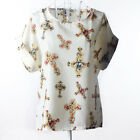 Women Fashion Summer Chiffon Short Sleeve Loose Casual T-shirt Tops Shirt Blouse