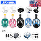 LEUCOTHEA Swimming Full Face Mask Surface Diving Snorkel Scuba for GoPro Lot USA