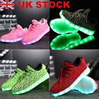 Kids Boys Girls Light Up Shoes LED Flashing Trainers Casual Sneakers plus size