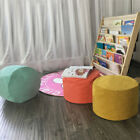 round bean bag - Solid Color Bean Bag Cover Ottomans Round Stool Chair Cover without Filling