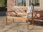 Hardwood Garden Bench 2,3 or Twin seater Chair By Norfolk Leisure FSC