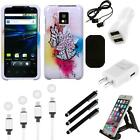 For LG Optimus G2X P990 Design Snap-On Hard Case Phone Cover Charger