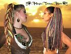 DREAD FALL Gipsy Boho 112 Dreadlocks MAGIC TRIBAL HAIR Tribal Fusion BELLY DANCE