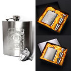 stainless steel drinkware - Portable Stainless Steel Flask Wine Tube Whisky Alcohol Drinkware 7oz/196ml New