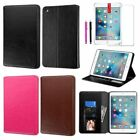 For Apple iPad Mini 4 Folio Stand Leather Ultra Card Slot Case Cover+Stylus+Film