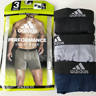 Mens ADIDAS Boxer Briefs 3-Pack Climalite Performance Underwear Athletic Fit
