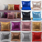 Hot Glitter Sequins Pillow Case Throw Waist Cushion Cover Ca