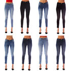 Womens Ladies Faded Slim Fit Skinny Jeans Jeggings Denim Size 6 8 10 12 14 16 18