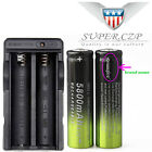 14x 18650 Battery 5800mAh 3.7v Rechargeable+Smart Charger Li-ion For Flashlight