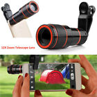 HD Clip-on 12x Optical Zoom Universal Telescope Camera Lens For samsung RR UK