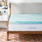 Linenspa 2, 3, 4 Inch Gel Swirl Memory Foam Mattress Topper - Out of Package OOP image