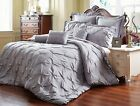 Unique Home 8 Piece Reversible Pinch Pleat Comforter Set Fade Resistant, image