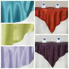 """10 Pack 72"""" Square New SATIN Table Overlays Linens Wedding Wholesale Supplies"""