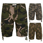 Mens Cargo Shorts Army Camo Stallion Casual Combat Cotton Chino Camouflage Pants