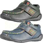 Boys Kids Pod Velcro Strap Leather Shoes Vintage Casual School Footwear Size