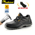 Safetoe Safety Work Shoes Mens Steel Toe Water Resistant Black Leather L 7222 US