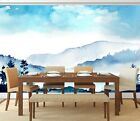 3D Blue Sky Mountains 5 Wall Paper Wall Print Decal Wall Deco Indoor Wall Murals
