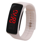 Water Resistant Rubber Bracelet Digital LED Wristband Watch Unisex Watches Hot