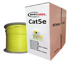 1000ft Cat5e Plenum CMP Network Cable YELLOW RED GREEN ORANGE