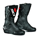 SIDI FUSION BLACK MENS AND LADIES UNISEX MOTORCYCLE MOTORBIKE SPORTS BIKE BOOTS