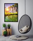 3d Sunlight Waterfall 5 Fake Framed Poster Home Decor Print Painting Unique Art