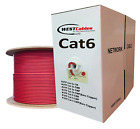 Cat6 Plenum 1000ft Cable CMP UTP 550MHZ  WHITE- RED-YELLOW-GRAY