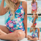 Внешний вид - Women Maternity Pregnant Swimwear Blouson Tankini Swimming Bikini-Swimsuit S-XL