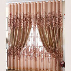 Home Window Balcony Modern Luxury Flower Printed Sheer Tulle Voile Curtain Hot