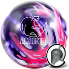 Bowling Ball brunswick Rhino Purple Pink White 10 bis16 Lbs Reactive Strike Ball