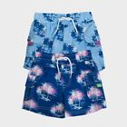 Minoti Boys Printed Swimming Shorts MALIBU Swim short Pattern Sky & Navy