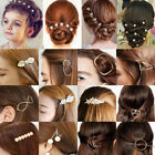 Flower Wedding Hair Pins Comb Bridal Bride Clips Crystal Accessories Pearls nEW