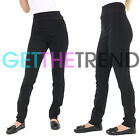 Womens Trousers Skinny Fit Ladies Stretchy MISS SEXIES High Waist School Girls