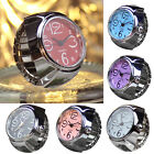 Dial Quartz Analog Watch Creative Steel Mini Elastic Quartz Finger Ring Watch W image