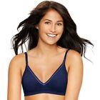 NEW Hanes Navy Blue Ultimate T Shirt Bra Wire Free Support S