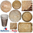 Lumber Jack Cut Wood Timber Party Tableware Decorations Supplies